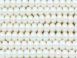 Ivory Rondelle Pearl Beads 8mm - Large Hole (PRL185)