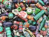 Assorted Multi-Color Painted Ceramic Beads - Peru (CER81)