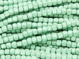 Mint Green Cube Wood Beads 4mm (WD915)