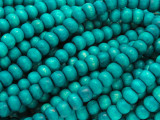 Teal Rondelle Wood Beads 6mm (WD922)