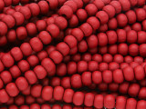 Red Round Wood Beads 6mm (WD923)