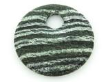 Green Silver Line Jasper Round Gemstone Pendant 45mm (GSP1301)