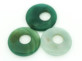 Green Agate Round Gemstone Pendant 38-42mm (GSP1440)