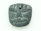 Mayan Carved Stone Pendant 24mm (GUA483)