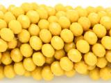 Lemon Yellow Crystal Glass Beads 8mm (CRY254)