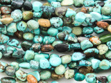 Turquoise Small Pebble Beads 5-8mm (TUR1208)