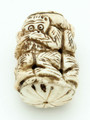 "Carved Monkeys ""No Evil"" Bone Pendant 53mm (AP1863)"