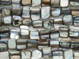 Gray Irregular Shell Beads 5-10mm (SH524)