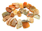 Orange Agate Slab Gemstone Beads 28-41mm (AS796)