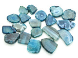 Blue Agate Slab Gemstone Beads 28-50mm (AS800)