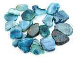 Blue Agate Slab Gemstone Beads 34-46mm (AS801)
