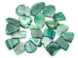 Green Agate Slab Gemstone Beads 27-55mm (AS804)