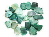 Green Agate Slab Gemstone Beads 29-44mm (AS806)