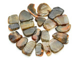 Brown Agate Slab Gemstone Beads 25-44mm (AS808)
