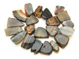 Brown Agate Slab Gemstone Beads 28-45mm (AS809)