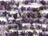 "Amethyst Chip Gemstone Beads - 32"" strand (GS1210)"