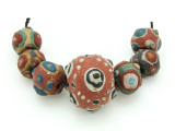 Assorted Ceramic Warring States Focal Beads - Indonesia (CB527)