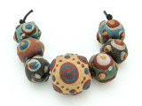 Assorted Ceramic Warring States Focal Beads - Indonesia (CB534)