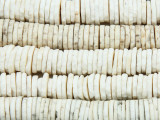Old Ostrich Egg Shell Disc Beads 10-15mm - Africa (AT6996)