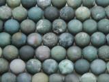 Moss Agate Round Gemstone Beads 10mm (GS3971)