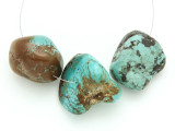 Large Turquoise Focal Beads 24-35mm (TUR1211)