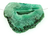 Green Druzy Agate Pendant 50mm (GSP1480)
