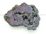 Electroplated Druzy Agate Pendant 57mm (GSP1569)