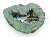 Electroplated Druzy Agate Pendant 53mm (GSP1585)