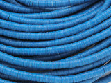 Blue Vinyl Disc Beads 3-4mm (VY211)