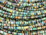 Assorted Vinyl Disc Beads 2-3mm (VY221)