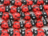Lady Bug Lampwork Glass Beads 15mm (LW1573)
