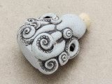 Octopus Ceramic Cork Bottle Pendant 40mm (AP1882)