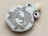 Pisces Ceramic Cork Bottle Pendant 46mm (AP1883)