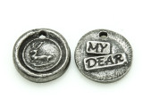My Dear - Pewter Wax Seal Charm 13mm (PW852)