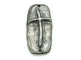 Cross Connector - Pewter Pendant 31mm (PW863)