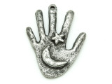 Hand w/Moon & Star - Pewter Pendant 42mm (PW864)