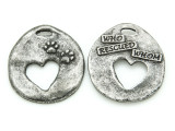 Who Rescued Whom - Pewter Pendant 33mm (PW867)