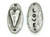 Heart Connector - Pewter Pendant 29mm (PW877)