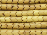 Old Yellow Glass Snake Trade Beads 9mm - Africa (AT7182)
