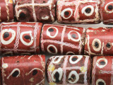 Old Tic Tac Toe Glass Beads - Africa (RF819)