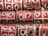 Old Tic Tac Toe Glass Beads - Africa (RF820)