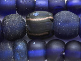 Old Cobalt Blue Dutch Dogon Glass Trade Beads - Mali (RF824)