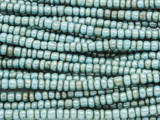 Metallic Turquoise Glass Trade Beads 3-4mm - Africa (AT7194)