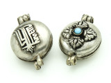 Dorje Silver Tibetan Prayer Box Pendant 30mm (TB299)