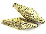 Brass Etched Tibetan Bead 44mm (TB486)