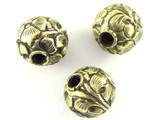 Brass Floral Tibetan Bead 16mm (TB489)