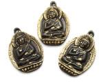 Brass Buddha Tibetan Pendant 52mm (TB443)