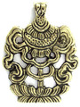 Brass Tibetan Pendant 73mm (TB495)