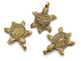 Brass Turtle Tibetan Pendant 46mm (TB419)