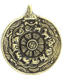 Brass Metal Tibetan Pendant 71mm (TB546)